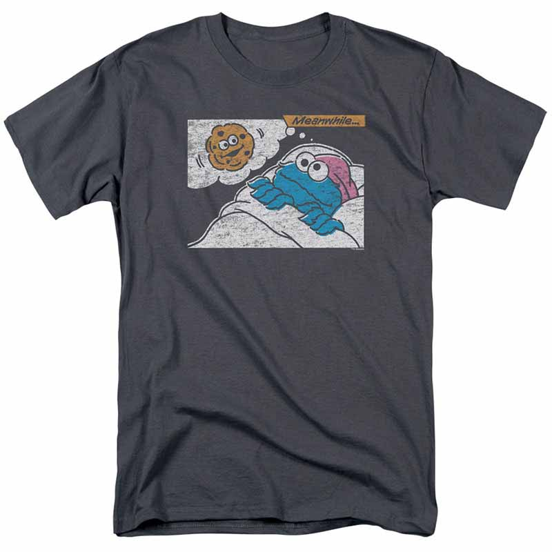 Sesame Street Meanwhile Gray T-Shirt