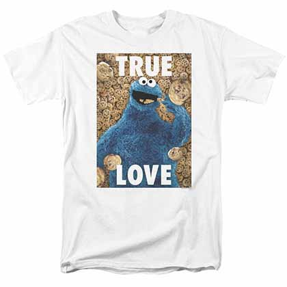 Sesame Street Beautiful Cookies White T-Shirt