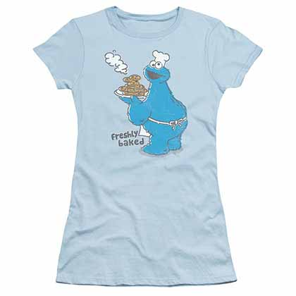 Sesame Street Freshly Baked Blue Juniors T-Shirt