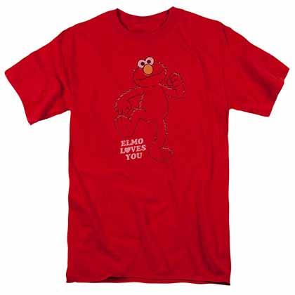 Sesame Street Elmo Loves You Red T-Shirt