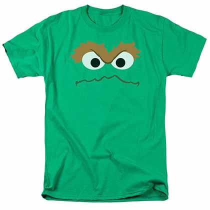 Sesame Street Oscar Face Green T-Shirt