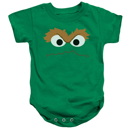 Sesame Street Oscar The Grouch Face Onesie