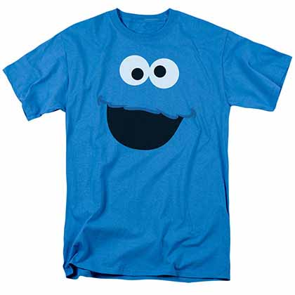 Sesame Street Cookie Monster Face Blue T-Shirt