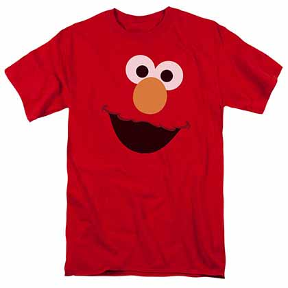 Sesame Street Elmo Face Red T-Shirt