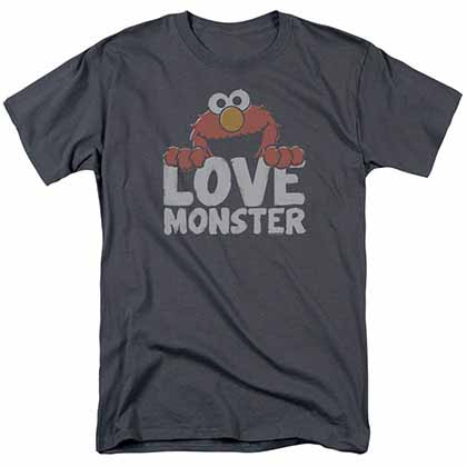 Sesame Street Love Monster Gray T-Shirt