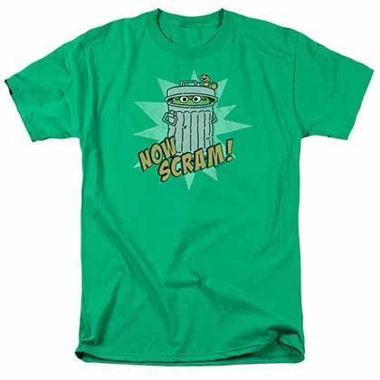 Sesame Street Now Scram Green T-Shirt