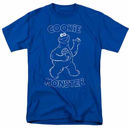 Sesame Street Simple Cookie Blue T-Shirt