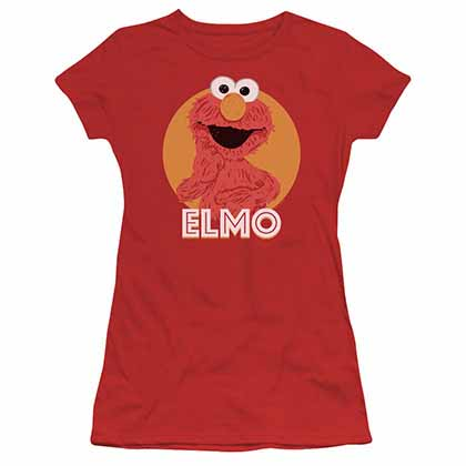 Sesame Street Elmo Scribble Red Juniors T-Shirt