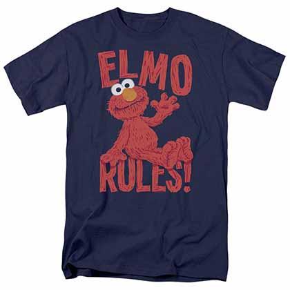 Sesame Street Elmo Rules Blue T-Shirt