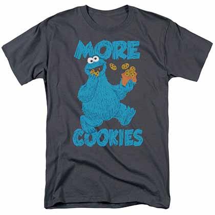 Sesame Street More Cookies Gray T-Shirt