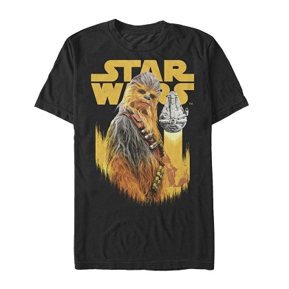 Star Wars Han Solo Story Chewie Falcon Tshirt