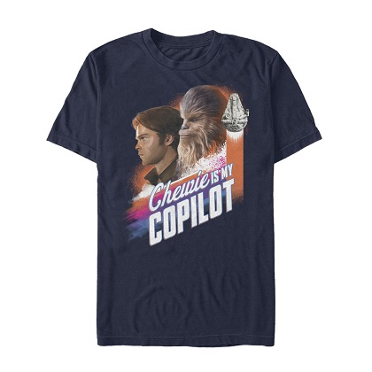 Star Wars Han Solo Story Chewie Is My Copilot Tshirt