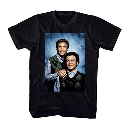 Step Brothers Portrait Black T-Shirt