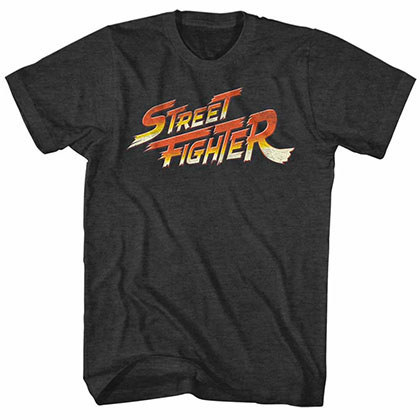 Street Fighter Logo Black Tee Shirt