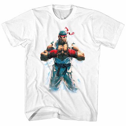 Street Fighter Ryu White Tee Shirt