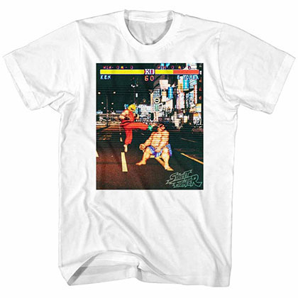 Street Fighter Real Street Fighter White Tee Shirt