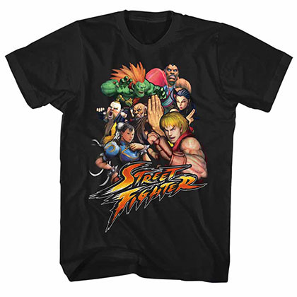 Street Fighter Stftr Black Tee Shirt