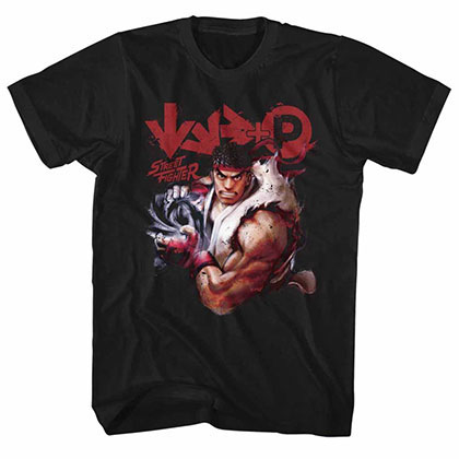 Street Fighter More Black Tee Shirt