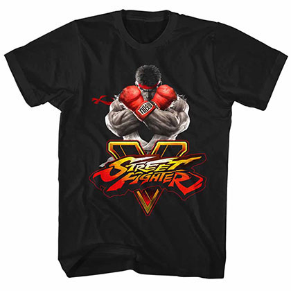 Street Fighter Sfv Key Black Tee Shirt