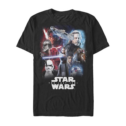 Star Wars Episode 8 The Last Jedi Poster Tshirt