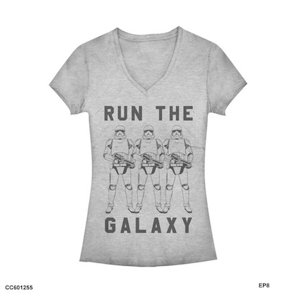 Star Wars The Last Jedi Run The Galaxy Womens Tshirt