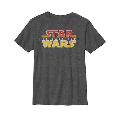 Star Wars The Last Jedi Textured Logo Youth Tshirt