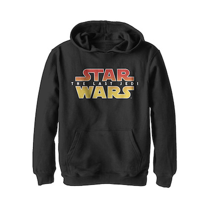 Star Wars The Last Jedi Textured Logo Youth Hoodie