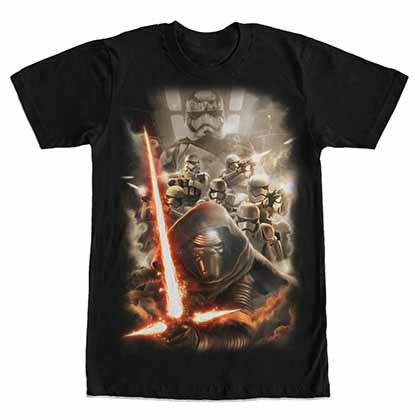 Star Wars - Episode 7 Reinforcements Black T-Shirt