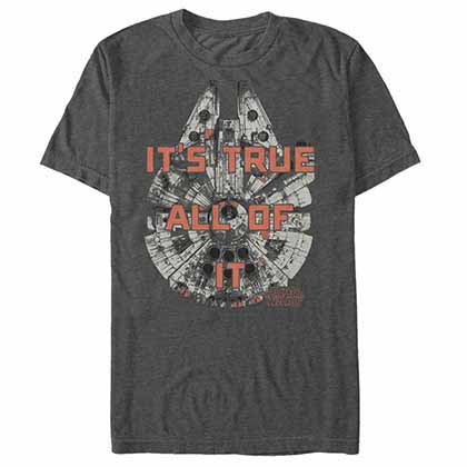 Star Wars - Episode 7 True Falcon Gray T-Shirt