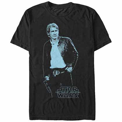 Star Wars - Episode 7 Blue Han Black T-Shirt
