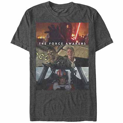 Star Wars - Episode 7 Tried And True Gray T-Shirt