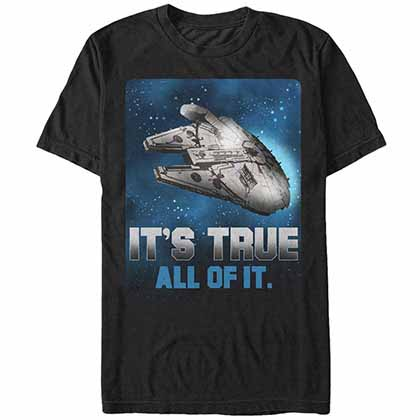 Star Wars - Episode 7 Space Truth Black T-Shirt