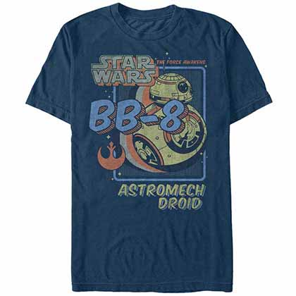 Star Wars Episode 7 Spacey Droid Blue T-Shirt
