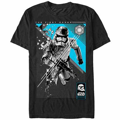 Star Wars - Episode 7 Poly Trooper Black T-Shirt