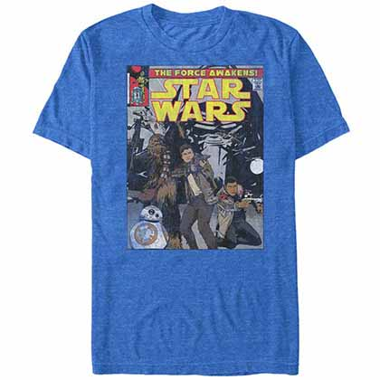 Star Wars - Episode 7 Kylo Cover Blue  T-Shirt