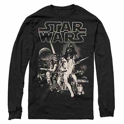 Star Wars Poster- L/S Black T-Shirt