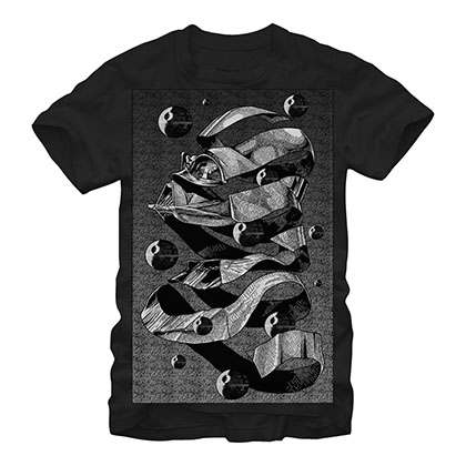 Star Wars MC Escher Poster Black T-Shirt
