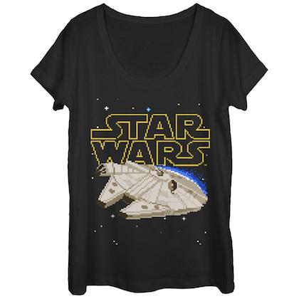 Star Wars Pixel Falcon Women's Tshirt
