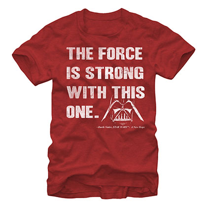 Star Wars The Force Is Strong Red T-Shirt