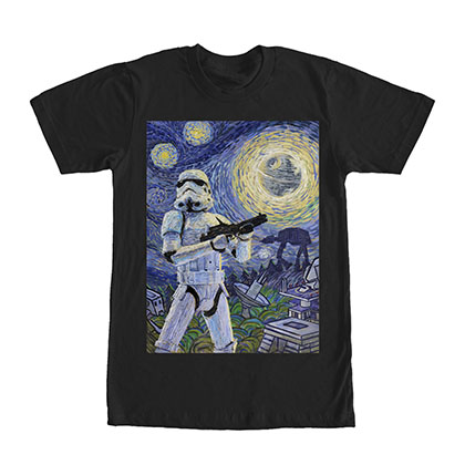 Star Wars Stormy Night Black T-Shirt