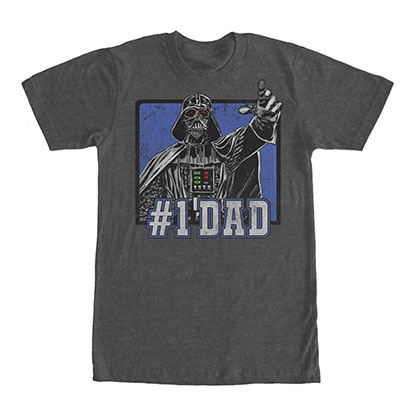 Star Wars Darth Vader #1 Dad Gray T-Shirt
