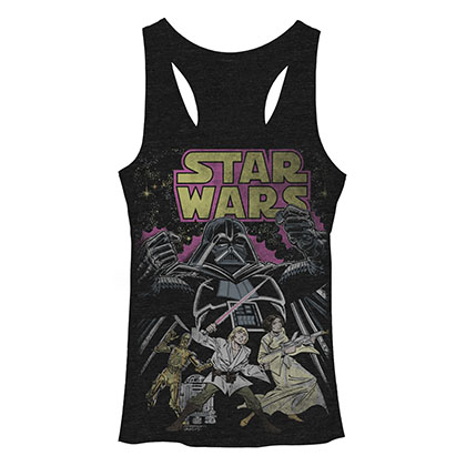Star Wars Comic Wars Black Juniors Tank Top