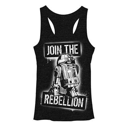 Star Wars Join The Rebellion Black Juniors Tank Top