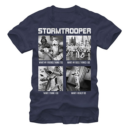 Star Wars What Troopers Do Blue T-Shirt