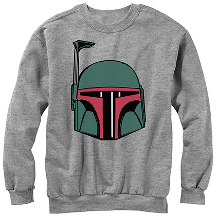 Star Wars Boba Head Gray Sweatshirt