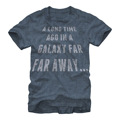 Star Wars Galaxy Far Far Away Blue T-Shirt