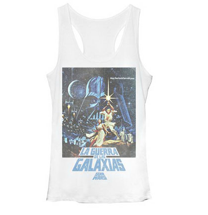 Star Wars La Guerra White Juniors Tank Top