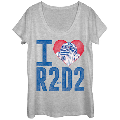 Star Wars I Heart R2D2 Women's Tshirt