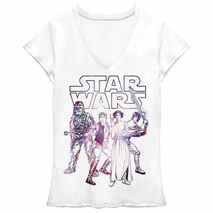 Star Wars Rebel Group Juniors T-Shirt
