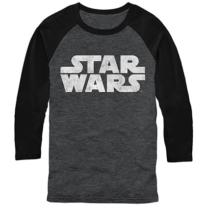 Star Wars Simple Logo Gray Long Sleeve T-Shirt
